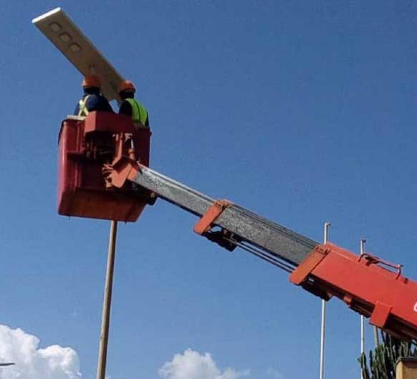 Solar street light project in nigeria lagos
