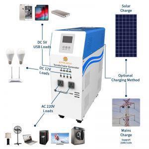 1500w solar power generator system