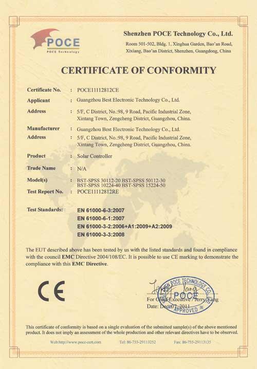 PWM-Solar-Controller-CE-certification-2